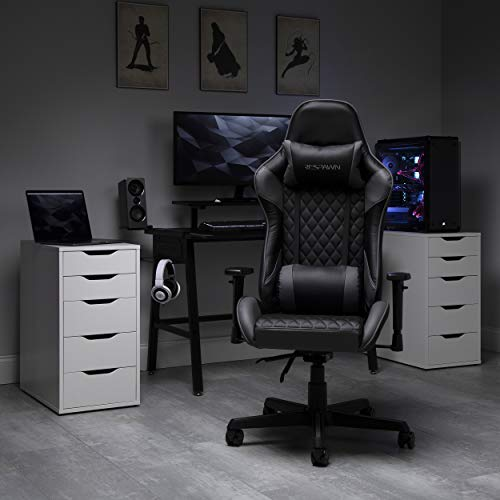 RESPAWN 100 Racing Style Gaming Chair, in Gray (RSP-100-GRY)