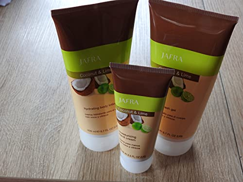 Jafra Coconut & Lime Set (Waschgel, Körperlotion und Handcreme)