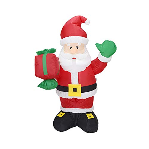 Seika 5 ft Christmas Inflatables Santa Claus with Gift Boxes, Christmas Inflatables with Led Lights Xmas Holiday Blow-Up Yard Party Decoration for Outdoor Indoor Home Garden