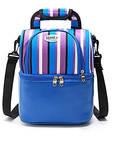 9L thermique sac de déjeuner de pique-niquer stockage sacs d'isolation alimentaire sacs pour hommes multifonction nourriture pique-niquer sacs isothermes,Blue