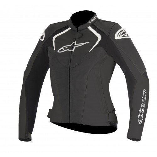 Alpinestars Stella Jaws - Chaqueta de moto (piel, talla 44), color negro