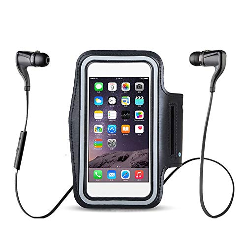 Zwarte armbanden waterdicht Gym Run, voor Iphone 11 11R Pro Xs Max XR X 10 8 6 6S 5 5S 5C SE 7 Plus 4 4S Arm Band telefoon tas Case