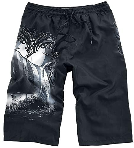Black Premium by EMP Sink Or Swim Homme Short de Bain Noir S, 100% Polyester,