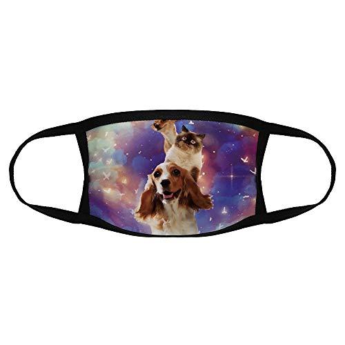 Kinderen Gewone Masker Canidae Engels Cocker Spaniel Sky Carnivore Sporting Group Companion Hond kleur5 Een Maat Sport Gezicht Cover Up