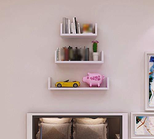 Los estantes flotantes Montado decoración de pasar Placa Biblioteca moderna simple (Color: Rojo) - creativa deflector estante de la pared T - Estante Estantería de pared WTZ012 (Color : White)