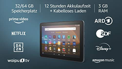 Produktbild von Fire HD 8 Plus-Tablet, 8-Zoll-HD-Display, 32 GB, Schiefergrau, Mit Werbung; unser bestes 8-Zoll-Tablet für Unterhaltung unterwegs