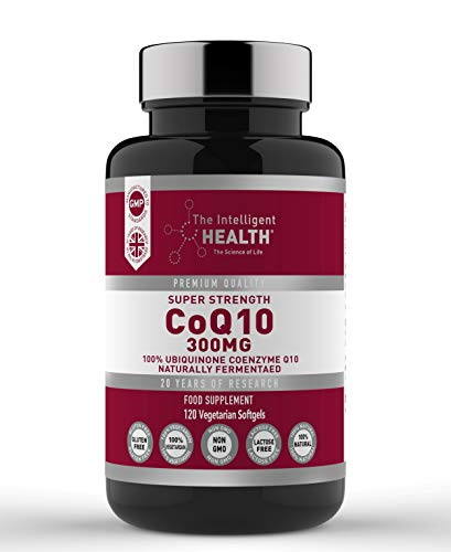 CoQ10 - Ubiquinone Coenzyme - Super Strength - High Absorption Q10 Coenzyme 300mg 120 Vegan Softgels, Capsules by Intelligent Health - Naturally Fermented - Premium Quality – Made in UK…