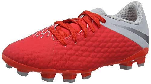 Nike Jr Hypervenom 3 Academy FG, Zapatillas de fútbol Sala Unisex niño, Multicolor (Lt Crimson/Mtlc Dark Grey-Wolf Grey 600), 27 EU