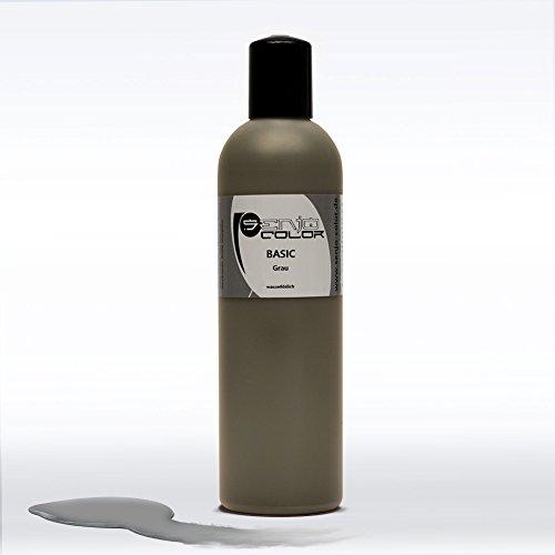 Senjo Color Basic Bodypainting Colour I Maquillage du visage et du corps I cosmétiques, testé dermatologiquement I couleur festival I 250 ml I gris