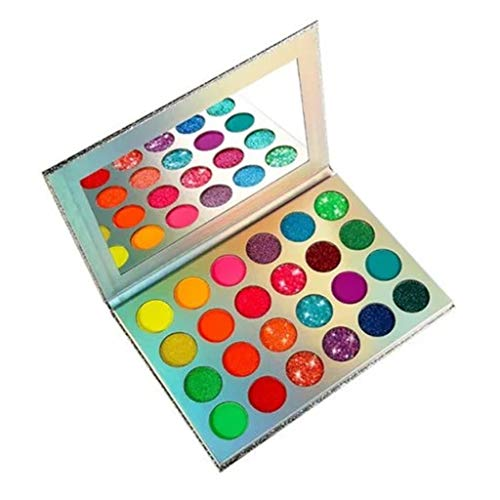 Webla 24 Color Luminous Eyeshadow Palette, Neon Glitter-Matte Highly Pigmented Luminous Eyeshadow Palette, Luminous Halloween Party Makeup Set