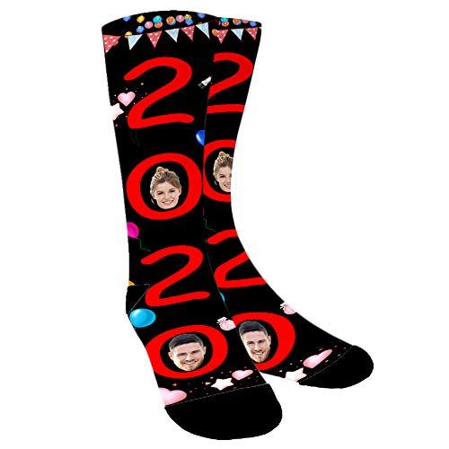 ABIsedrin Lustige Personalisiert Socken, Persönlich Bedruckte Socken, Foto Socke für Männer, Frauen