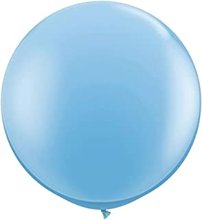 Koyal Wholesale Round Latex Giant Balloon (Pack of 2), 3', Sky Blue