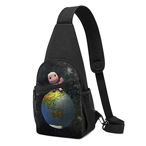 Hdadwy Little Big Planet Schultertasche Schulterrucksack Brustpackung Causal Crossbody Daypack für Männer und Frauen