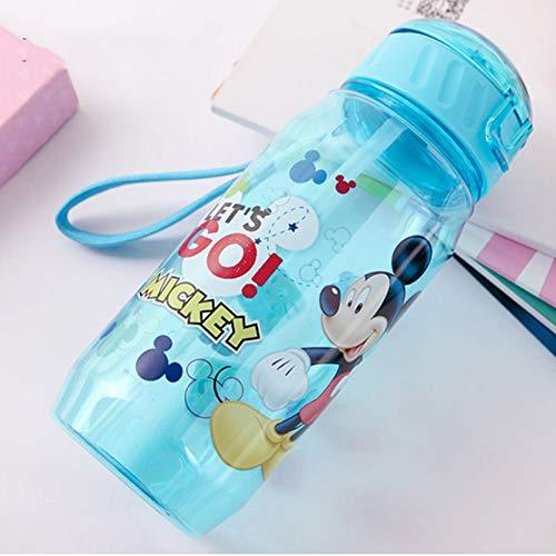 SHOPFF Sportflasche Umweltfreundliche Kinder Trinken Cartoon Wasserflaschen Bpa Frei Tritan Stroh Kinder Flasche Kinder Wasserkocher Tragbare Sportflasche, A