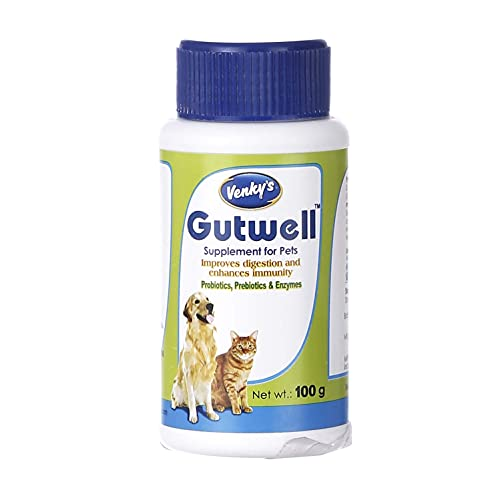 Venkys Venky's Gutwell Supplement for Dogs and Cats by Jolly and Cutie Pets (50gm(Pack of 1))