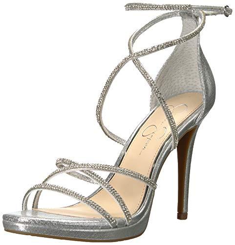 Jessica Simpson JAEYA Heeled Sandal, Platinum, 9.5 M US