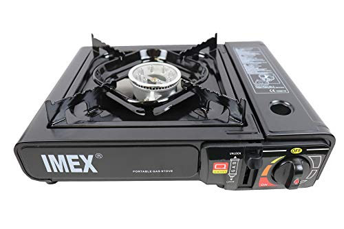 I-MEX Imex Réchaud à gaz portable, 2,2kW, 39 x 13 x 32cm (l x H x P), avec mallette de transport