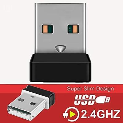 PopHMN 2.4 GHz Wireless Technology, Unifying Usb Adapter, for Wireless Keyboard, Wireless Mouse Receiver, 6 Channel