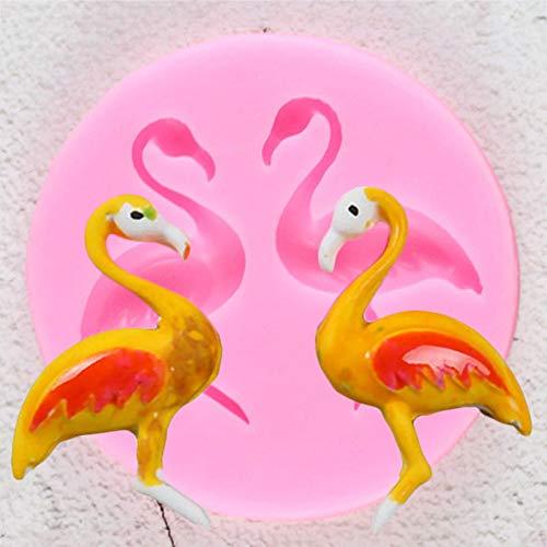 UNIYA Flamencos Molde de Silicona Unicornio FiestaCumpleaños Fondant Herramientas de decoración de Pasteles Cupcake Jelly Candy ChocolateMolde