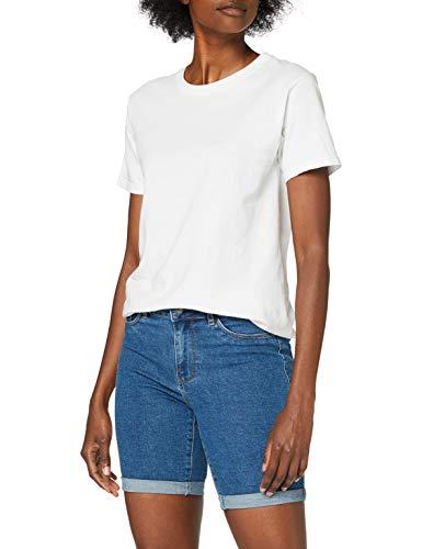Only ONLSUN Anne K Mid Long Shorts BJ15268-2 Pantalones Cortos, Medio De Mezclilla Azul, M para Mujer