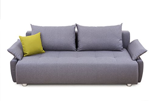 Collection AB Gioco Schlafsofa, Stoff, Hellgrau, 96 x 212 x 84 cm