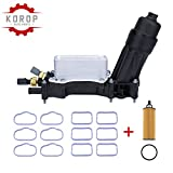 Engine Oil Cooler and Oil Filter Housing Adapter Assembly with Intake Manifold Gasket,Replaces# 68105583AF Fits for 2014-2017 Town&Country, Dodge Charger, Jeep Grand Caravan, Wrangler, Ram And More