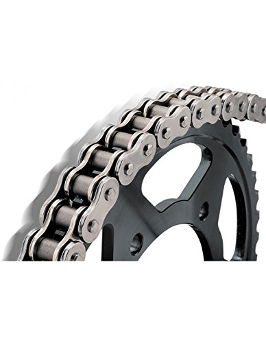 BikeMaster 428H Heavy-Duty Precision Roller Motorcycle Chain - Natural / 428H x 110