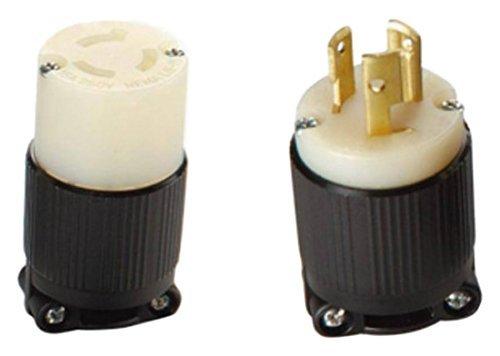 30A 600V AC 3 Pole 4 Wire cUL Listed NEMA L17-30 OCSParts L17-30R Grounding Locking Connector