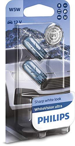 Philips WhiteVision ultra W5W bombilla de señalización, blister doble
