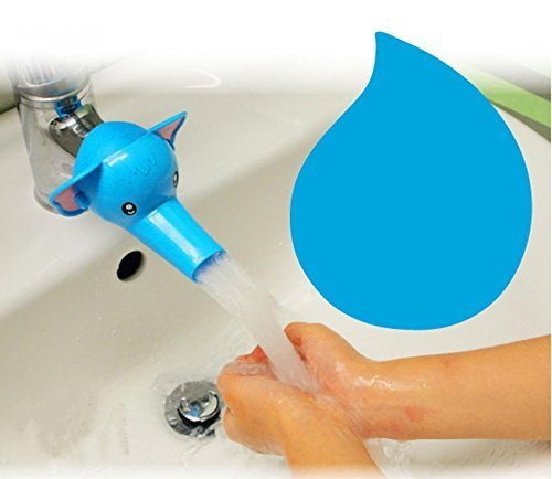 Mgms6 Silicone and Plastic Elephant Water Extension Tap Holder Faucet Extender for Kitchen Bathroom Basin (Multicolour)