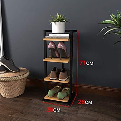 Schoenenrek, schoenenrek, eenvoudig, klein schoenenrek, voor badkamer, provincie, schoenenrek, meerdere lagen, van smeedijzer (kleur: wit, maat: 28 cm x 26 cm x 71 cm)