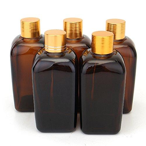Yanshan 5pcs bouteilles en verre ambre pipette compte-gouttes oeil pipette réactif liquide pour parfum huile essentielle