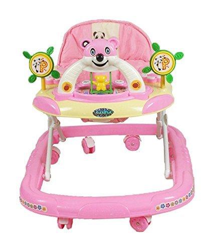 PANDA Creation Adjustable Musical Walker (Pink)