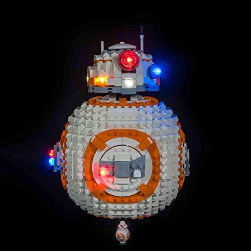 TopBau Beleuchtungsset LED-Kabel Set für Lego - BB-8, Upgrade LED Licht Set, Kompatibel mit Lego 75187