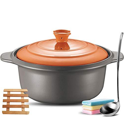 Clay Casserole Pot Casserole Dish Casserole Dishes With Lids High Temperature Clay Pot Rice Stone Pot-4L