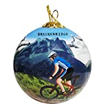 Unbekannt Art Studio Company Handbemalt Glas Weihnachten Ornament–Mountain Biker Breckenridge (