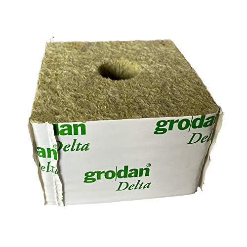 水耕栽培用ロックウール grodan Delta6.5G Blocks 10個セット 生長した苗の定植用ブロックタイプ