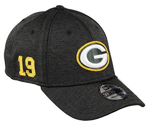 New Era Green Bay Packers 39thirty Stretch Cap - NFL Established Number - Black - M - L