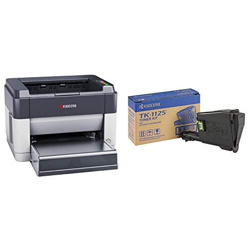 Kyocera Klimaschutz-System Ecosys FS-1061DN Monochrome-Laserdrucker: Schwarz-Weiß, Duplex-Einheit, 25 Seiten A4 pro Minute, USB 2.0. & TK-1125 Original Toner-Kartusche Schwarz