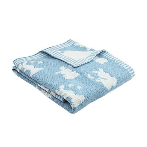Ericcay Couverture De Bébé Tricoté Cellulaire Casual Chic Toddler Pram Blankets Simplicity Style De La Mode Classique (Color : Blau, Size : Size)