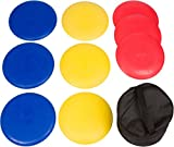 Trademark Innovations 9-Piece Disc Golf Set with Carry Bag by Trademark Innovations DISCGLF-9PC-RYB