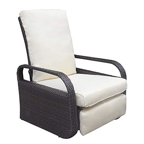 ART TO REAL Sillón reclinable de Mimbre con Cojines, Mueble para Exterior,...