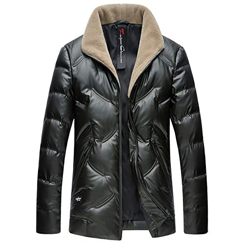 Cuello De Invierno 90% Duck Down Jacket Hombres Moda Empresarial Cálido Grueso Chaqueta De Párrafo Corto Ropa Masculina XL Verde Oscuro