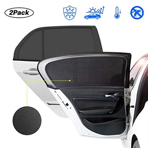 KIBTOY 2 Stück Sonnenschutz Auto,Sonnenblende Auto Netz mit UV Schutz,Auto Seitenfenster Sonnenschutz für Seitenfenster Meshmaterial Schützt Mitfahrer, Baby, Kinder & Haustiere