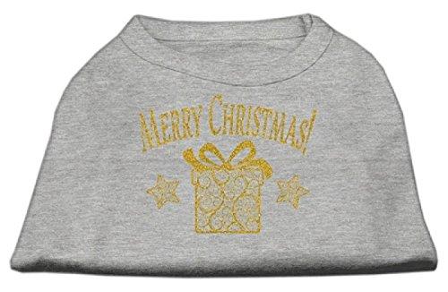 Mirage Huisdier Producten Gouden Kerstmis Present Hond Shirt_P, XXXL, Grijs