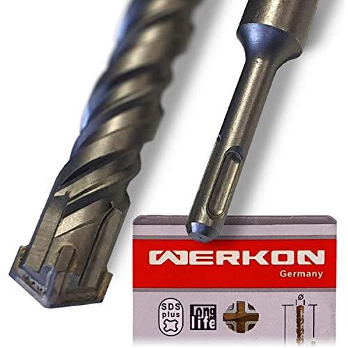 SDS Plus 20mm Ø - Extra Lang 20x600 mm - Ideal zum schnellen Bohren in Beton - Hochwertige Hartmetall Spitze - Kein Einhacken in Armierungseisen