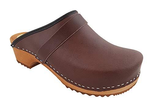 Zuecos MB, Zuecos originales marrones - Forma danesa Marrón Size: 38 EU