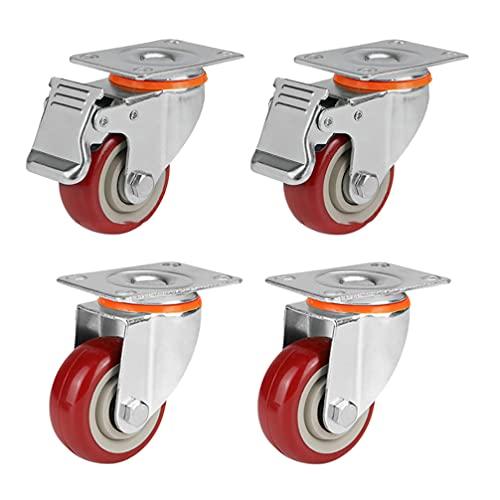 UKCOCO Banco de trabajo nivelador Caster profesional cesta de la compra Caster ruedas reparación piezas universal rueda para banco de trabajo / equipo armario / máquina de venta
