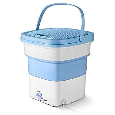 Portable Washing Machine,Folding Washing Machine,Foldable Mini Washing Machine,High Power Folding Washing Machine With Larger Washing Capacity for Travel Camping Business Trip(300W,Blue)