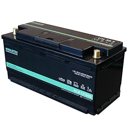 MOBILEKTRO® LiFePO4 150Ah 12V 1920Wh Lithium Versorgungsbatterie mit BMS - EQ 240Ah - 300Ah AGM oder GEL Aufbaubatterie für Wohnmobil, Boot, Camping oder Solaranlage, L6 DIN-Größe